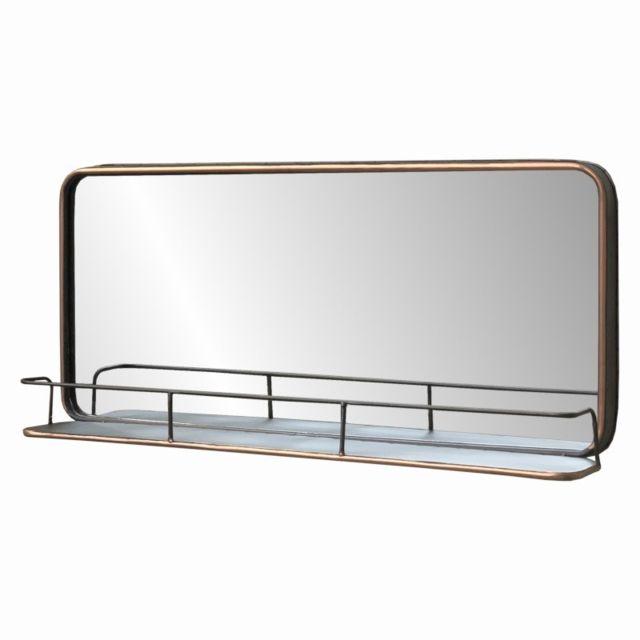 Chemin De Campagne Long Miroir Tablette Fenêtre Industriel Métal 91 cm x 40.50 cm x 13 cm