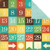My Minds Eye - Dates Jours 12 « X 12 » Collectable Remarquable Double-face De Papier