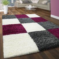 tapis poil long doux blanc achat tapis poil long doux blanc pas cher soldes rueducommerce. Black Bedroom Furniture Sets. Home Design Ideas