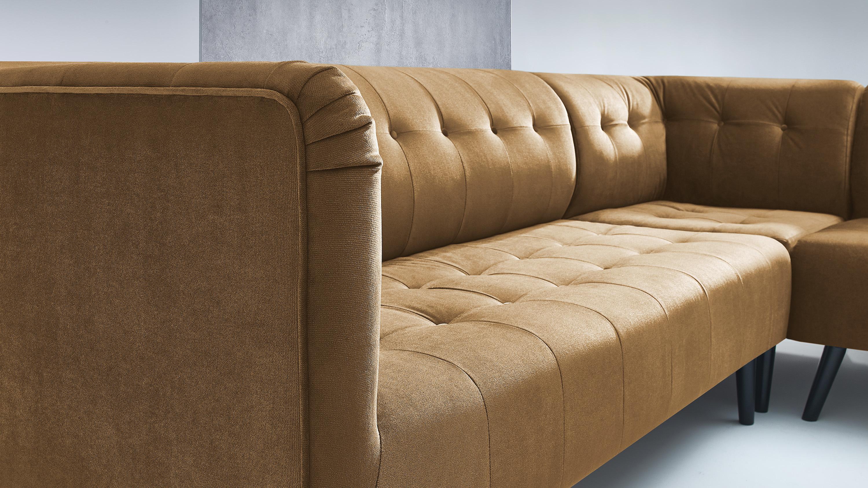 bobochic paris canap d 39 angle panoramique jaune moutarde achat vente canap s pas chers. Black Bedroom Furniture Sets. Home Design Ideas