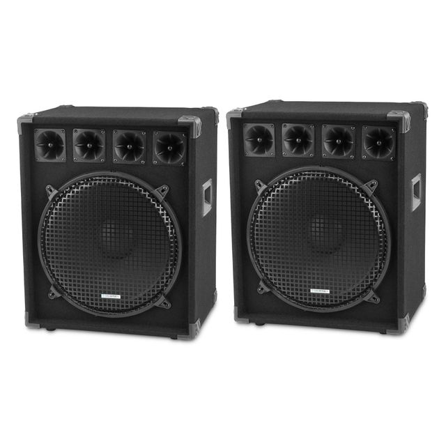 Mcgrey Dj-1522 Enceintes Party basement / Dj Paire 2 x 800W