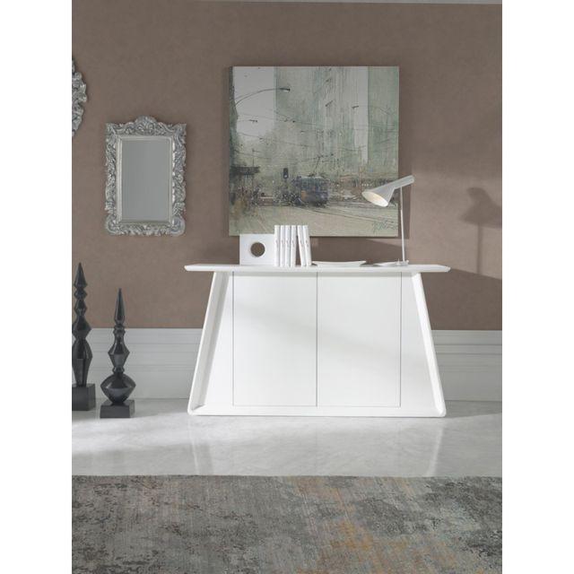 buffet blanc mat. Black Bedroom Furniture Sets. Home Design Ideas