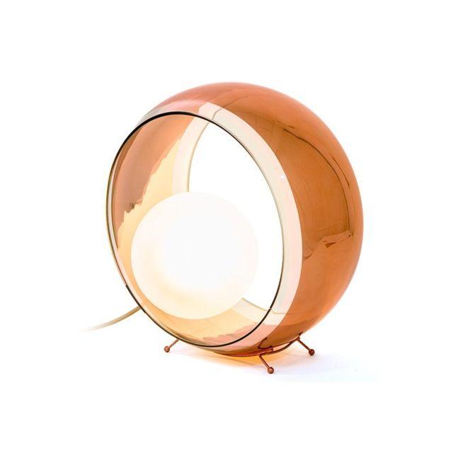 Concept Verre Lampe à Poser Design Okio Cuivrée