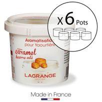 Lagrange - Lot de 6 pots d'aromatisation pour yaourts Caramel