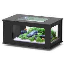 Aquatlantis - Aquarium table Led 130X75 cm noir