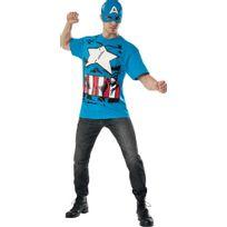 Rubies - Déguisement de Captain America - Marvel - Taille : L