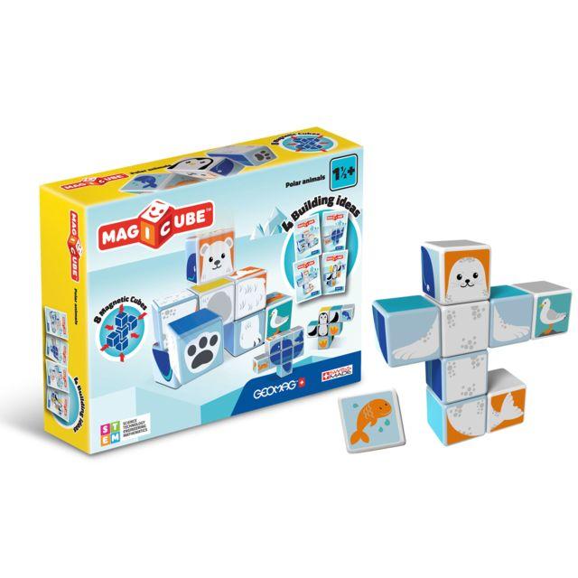 GIOCHI PREZIOSI MAGICUBE - Animaux du Pôle Nord - MAB04 Jeu de construction magnétique avec des cubes développés pour les enfants à partir de 18 mois.