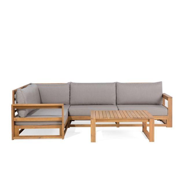 BELIANI - Salon de jardin - Meubles en bois d acacia - Ensemble de ...