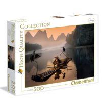 Clementoni - Puzzle 500 pièces : Vieux pêcheur