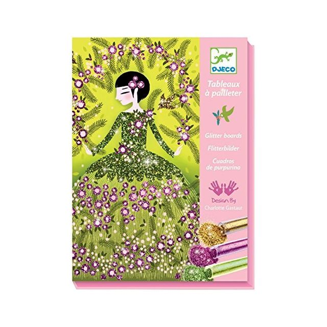 Djeco Colored Glitter Art Kit Dresses