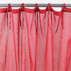 alin a lola text voilage nouettes en coton 105x250cm rouge pas cher achat vente rideaux. Black Bedroom Furniture Sets. Home Design Ideas