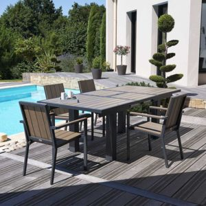 Awesome Table De Jardin Teck Aluminium Images - Amazing House Design ...