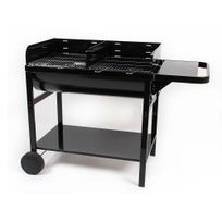 Somagic - Barbecue charbon sur chariot cuve acier 20 pers 85,5 x 47,5 cm Jumbo