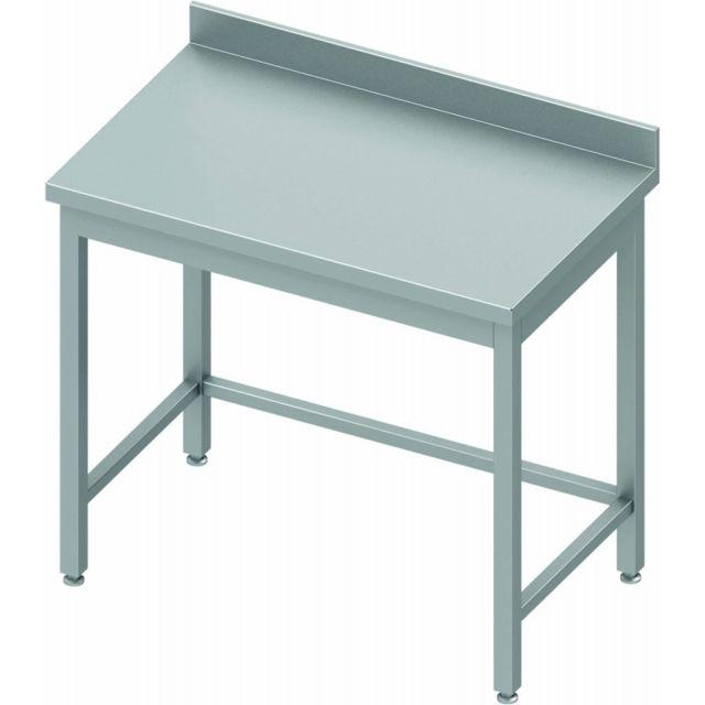 Materiel Chr Pro Table Inox Avec Dosseret - Profondeur 800 - Stalgast - inox 400x800 800