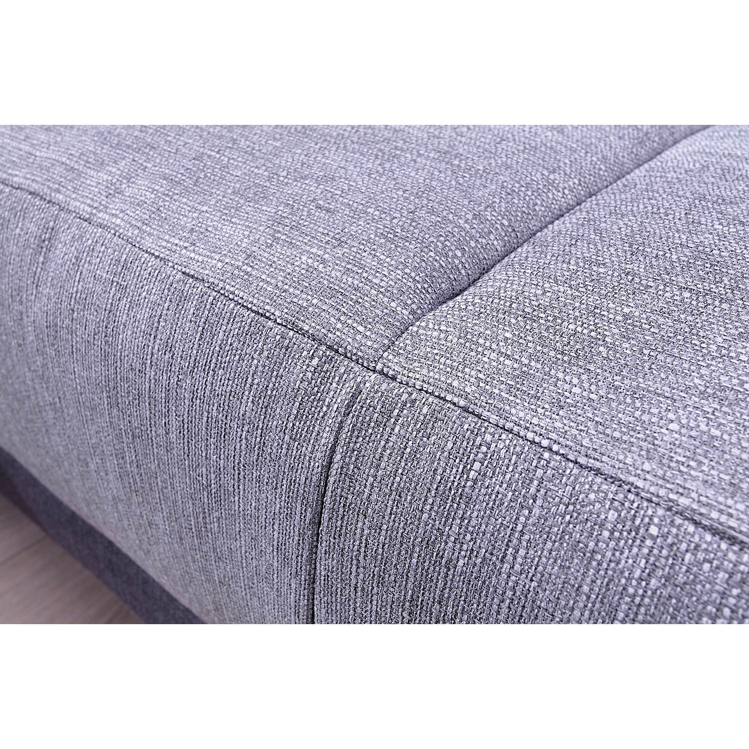 Canapé convertible scandinave Minty Grand Angle gauche - tissu gris clair/gris anthracite