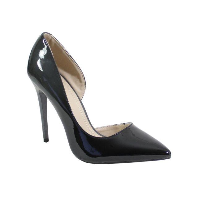 32845642c8b571 Alistair - By Shoes - Escarpin Talon Aiguille Style Vernis - Femme ...