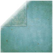 Bobunny - Papier scrapbooking Vintage turquoise 30,5cm