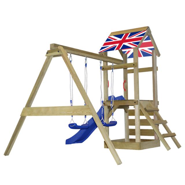 Vidaxl - vidaXL Aire de jeux en bois avec échelle, toboggan, balançoires S bf21d3b32669