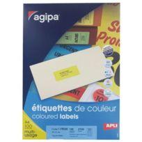 Apli - 1 Boîte de 2700 étiquettes, format 31 x 70 mm. Coloris rouge fluo