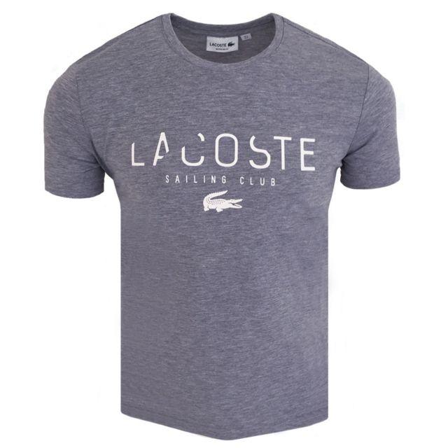 21508b2464d Lacoste - T-shirt homme T-shirt S-club gris - pas cher Achat   Vente Tee  shirt homme - RueDuCommerce
