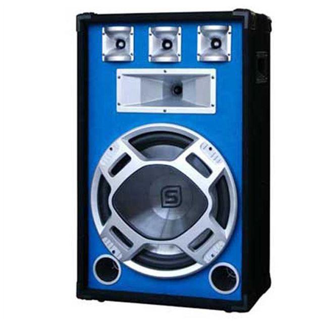 SKYTEC Enceinte Passive bleue PA 38cm 800W LED