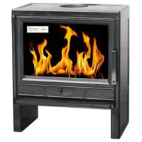 Interstoves - Poele A Bois Ifonte 50 11 Kw En Fonte Emaillee Buches 50CM