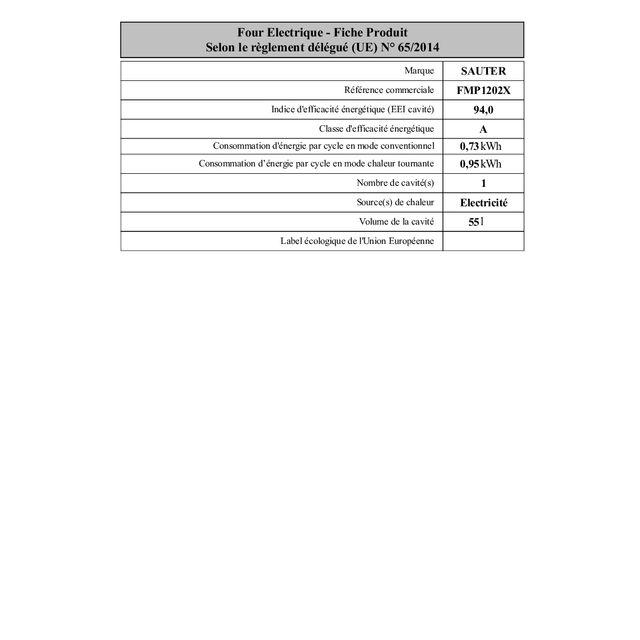 SAUTER - Four encastrable pyrolyse FMP1202X