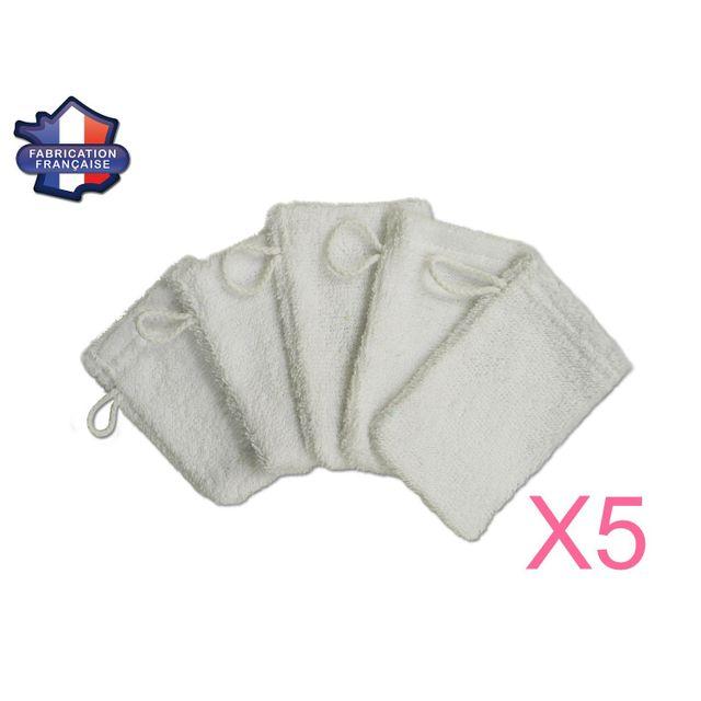 modulit lot de 5 petits gants de toilette d. Black Bedroom Furniture Sets. Home Design Ideas
