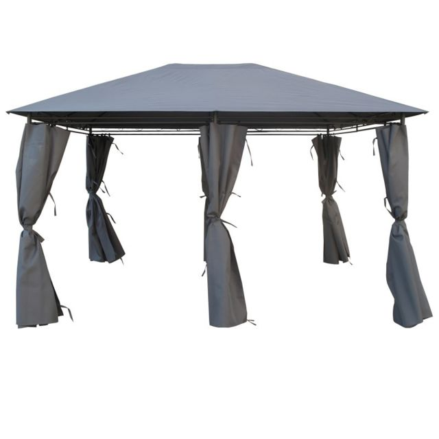 pergola gris achat vente de pergola pas cher. Black Bedroom Furniture Sets. Home Design Ideas