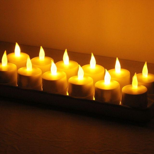 Wewoo - Guirlande Lumière de décoration de maison de bougie de Flicker  rechargeable sans flammes de 55916ebfe704