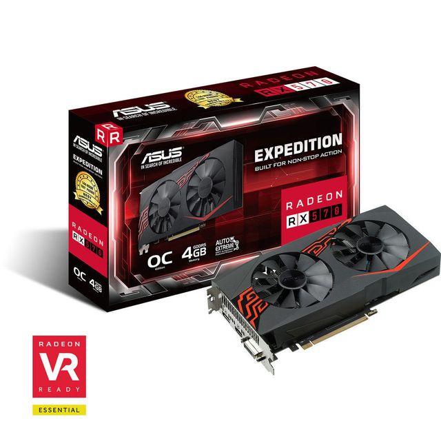 ASUS Radeon RX 570 EX OC, 4 Go