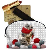 Laissez Lucie Faire - Petit porte-Monnaie Marmotte en toile