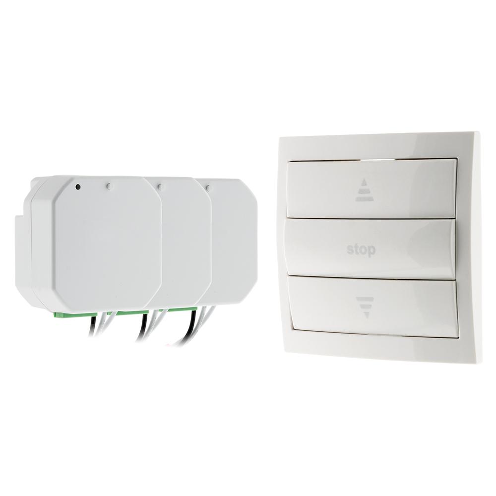 Pack volets roulants télécommandés (1 télécommande + 3 modules)