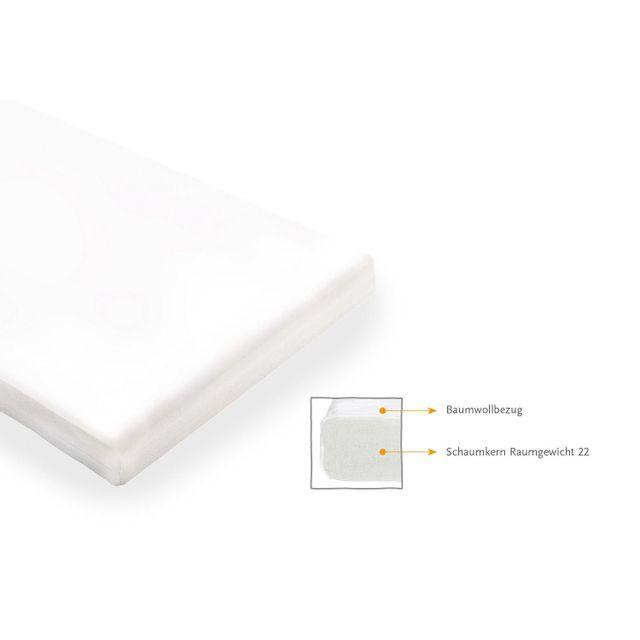 Comforium Matelas en mousse pour lit bébé 120x60 cm coloris blanc