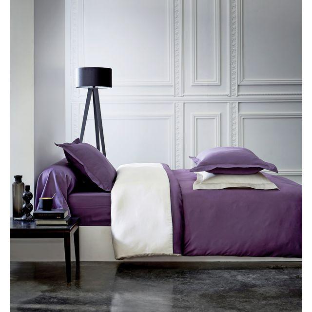 tex home housse de couette en satin violet pas cher achat vente housses de couette. Black Bedroom Furniture Sets. Home Design Ideas