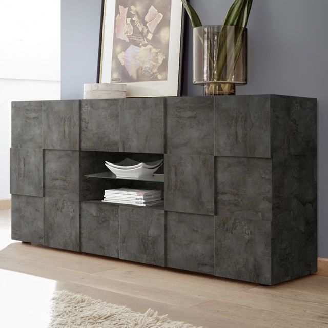 Kasalinea Buffet 180 cm design anthracite Dominos 5