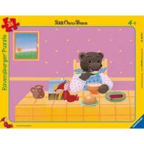 Ravensburger - Puzzle 38 pièces : Petit Ours Brun Au petit déjeuner
