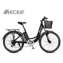 Mecer - Vélo de ville électrique 36V 10AH Noir