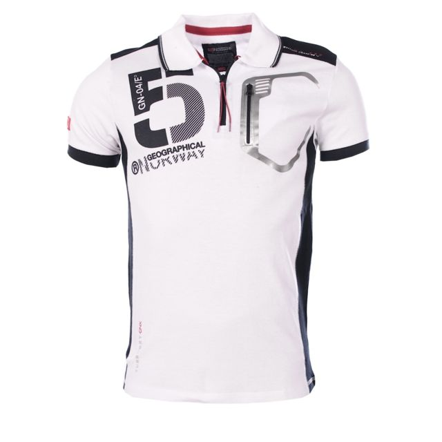 Geographical Norway - homme - Polo manches courtes Krouviar Blanc - pas cher  Achat   Vente Polo homme - RueDuCommerce 5b2a021b6f1