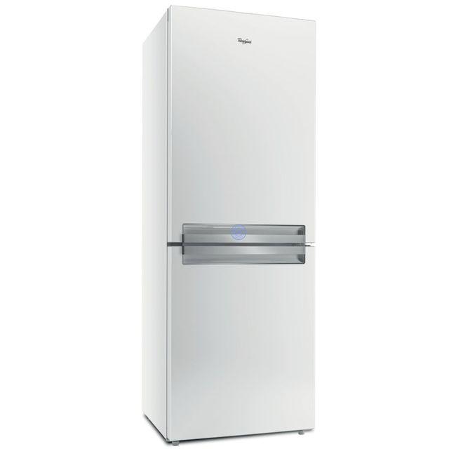 Whirlpool réfrigérateur combiné 70cm 418l a+ nofrost blanc - btnf5011w