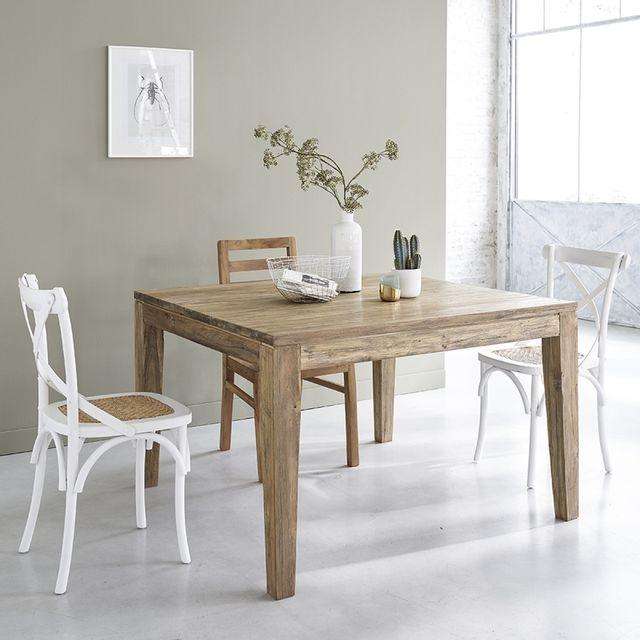 10 Table avec 8 recyclé rallonges en de à couverts teck bois exoCrdB
