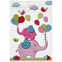 LES TAPIS - Tapis BALLON ELEPHANT Tapis Moderne par creme 80 x 150 cm