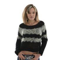 Edc By Esprit - Pull hiver fringe sweater noir
