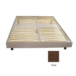 promo matelas sommier somkit 18 lattes coloris taupe 140x190 pieds 140cm x 190cm pas cher. Black Bedroom Furniture Sets. Home Design Ideas