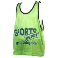 Les Fous Du Foot - Chasuble débardeur Sportdepot vert chasuble Vert 72825