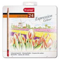 Bruynzeel - Expression De 24 Crayons De Couleur En MÉTAL - 7705M24