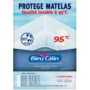Bleu calin protege matelas pour sommiers articules 160x200cm blanc 200cm x 60cm pas cher - Protege matelas carrefour ...