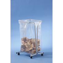 Mottez - Support sac poubelle fixe 100-110 litres - zingué sur roulettes B016CNM
