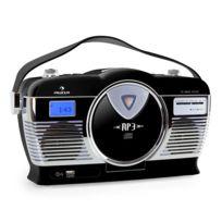 AUNA - MCP-69 Radio vintage UKW USB CD -noir