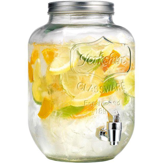 touslescadeaux fontaine distributeur boisson en verre 4 litres avec robinet pas cher. Black Bedroom Furniture Sets. Home Design Ideas